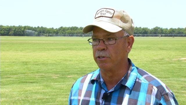 Collinsville Sod Farmer Fighting Against Erosion After Recent Rains