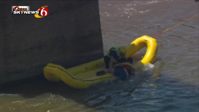 Kayaker Rescued From Arkansas River Near Pedestrian Bridge