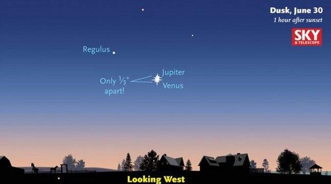 Oklahomans Treated To Spectacular Sight In Twilight Sky