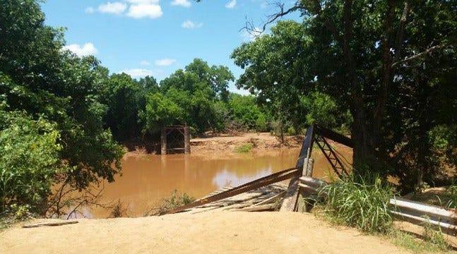 Receding Water Reveals Demise Of One Of Oklahoma's Oldest Bridges
