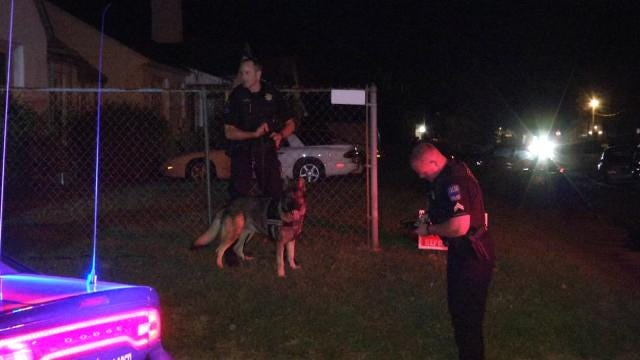 Tulsa K9 Officer Loki Finds Serial Larceny Suspect Hiding In Trash Can