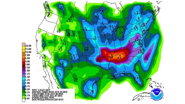 Dick Faurot's Weather Blog: A Few Days Of Heat, Followed By More Storms