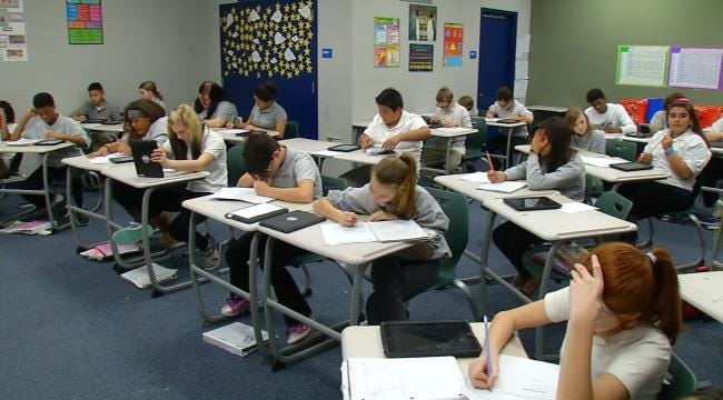 Oklahoma Fifth, Eighth Grade Writing Test Scores Tossed