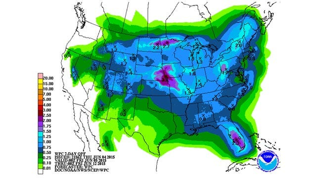 Dick Faurot's Weather Blog: Muggy Weekend, Chance of Showers/Storms Next Week