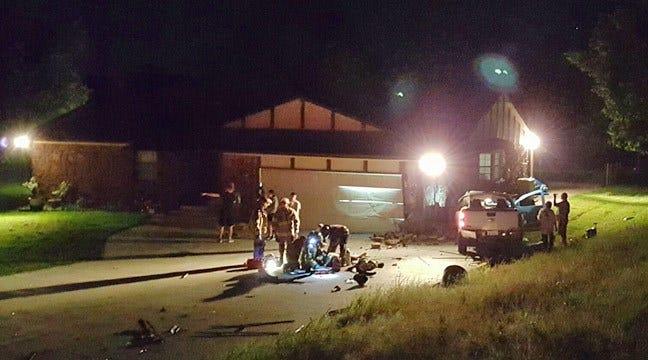 Driver Critical After Slamming Into Northwest Tulsa Garage