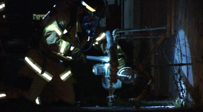 Car Damages Midtown Tulsa Gas Line