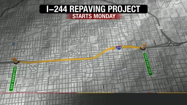 Crews To Begin I-244 Rebuilding Project