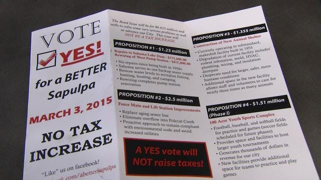 Voters To Decide On Four-Pronged Sapulpa Bond Proposal