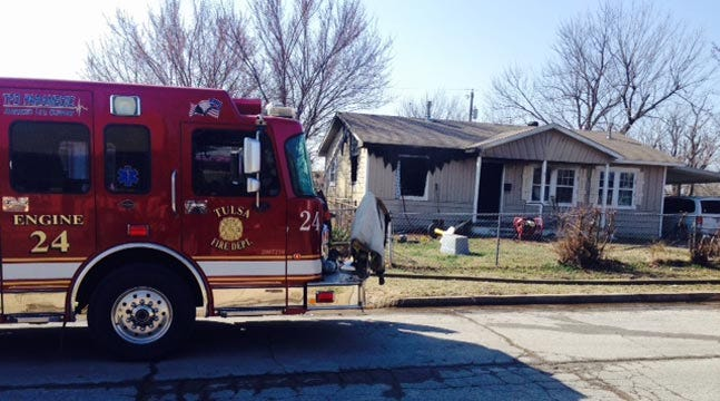 Firefighters Put Out North Tulsa House Fire