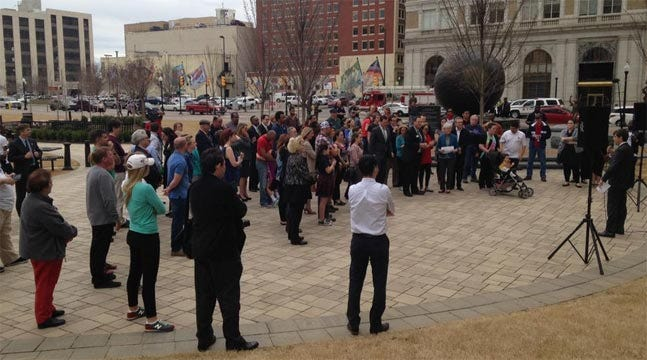 Community Groups 'Walk In Unity' In Downtown Tulsa