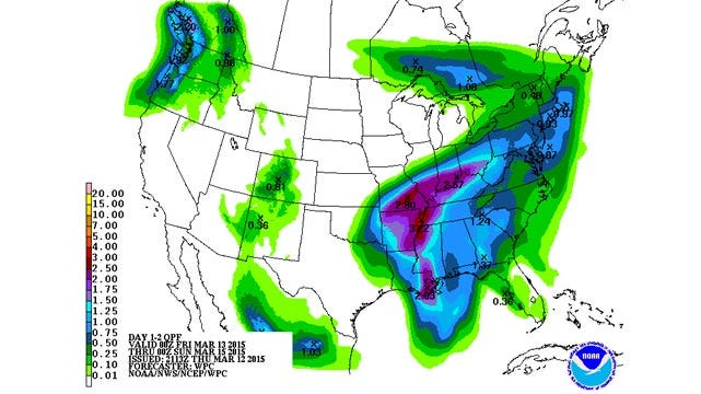 Dick Faurot's Weather Blog: Wet Friday, Mainly For More Eastern Counties