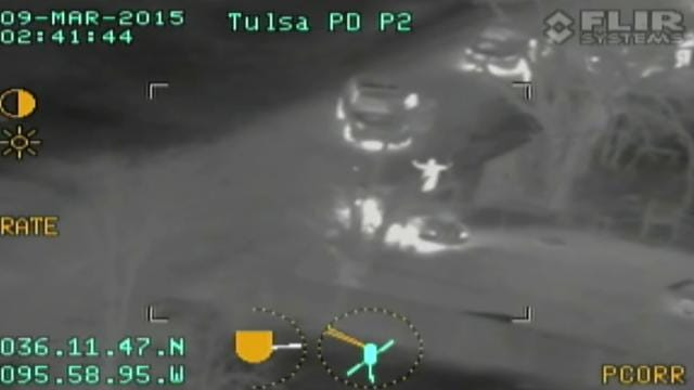 News On 6 Views Pursuit From Tulsa Police Helicopter