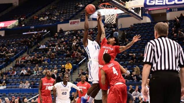 Shaq Attack: Harrison Leads Tulsa Past Houston In AAC Quarterfinals