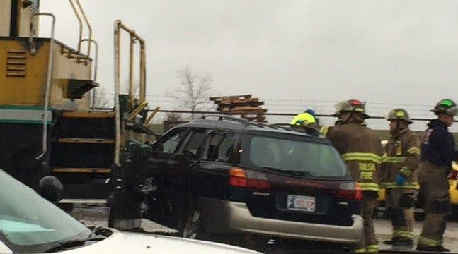 Tulsa Driver Receives Minor Injuries When Train Hits SUV