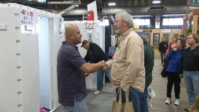Above-Ground Tornado Shelters Hot Item At Tulsa Home And Garden Show