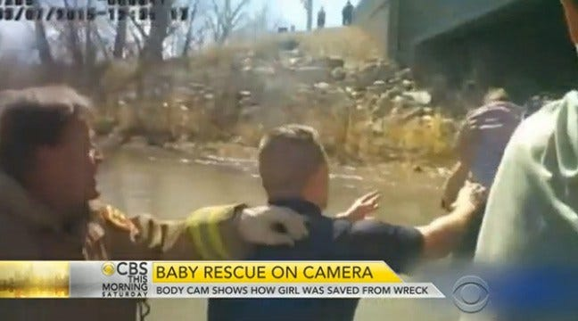 Video Released Showing Baby Girl's Rescue From Icy Creek