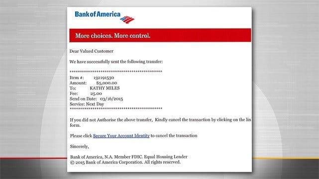 Tulsa Police Warn Of Bank Email Fraud