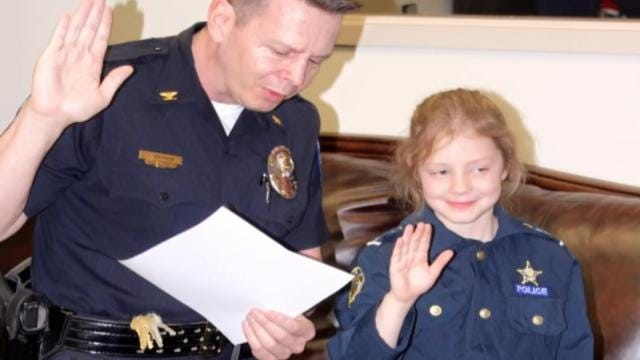 Jenks Police Surprise 7-Year-Old Fan On Her Birthday