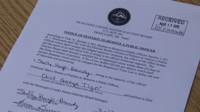 Muscogee (Creek) Citizens Circulating Petition To Impeach Chief