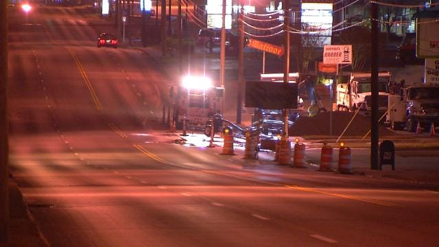 Midtown Tulsa Water Main Break Fixed After Impacting 45 Businesses