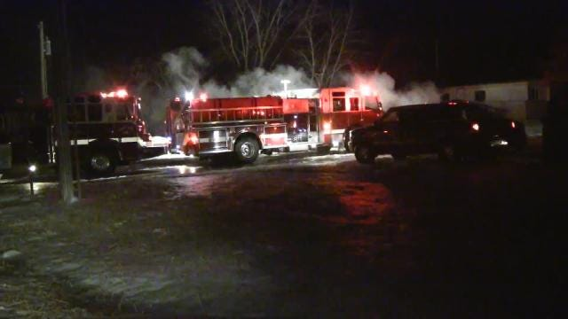 Sapulpa Mobile Home Destroyed In Fire