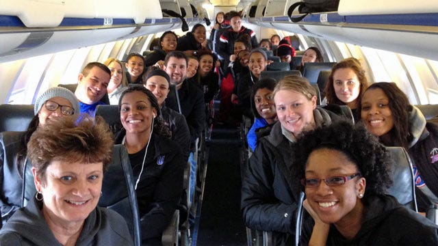 TU Women's Basketball Team Invites Opponents To Share Charter Flight