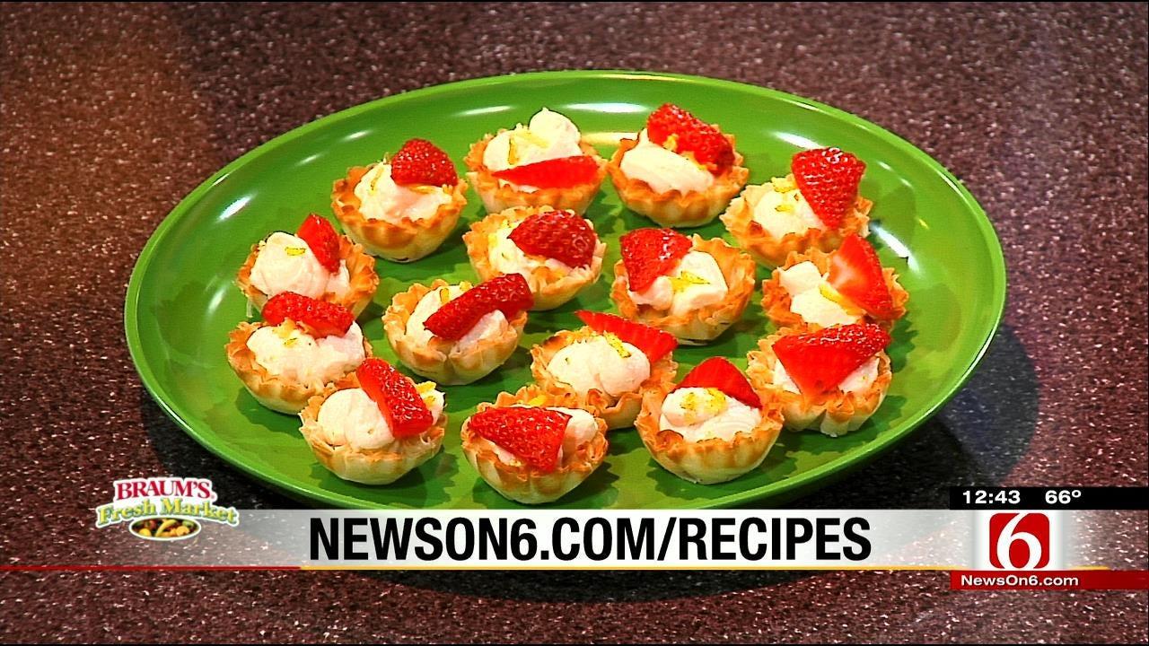 Mini Strawberry-Lemon Cheesecake Tarts