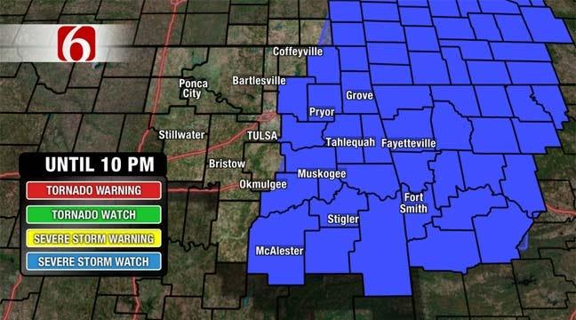 Eastern Oklahoma Under Severe Thunderstorm Watch