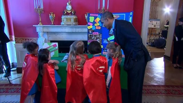 President Obama Impressed With Tulsa Girl Scouts' Invention