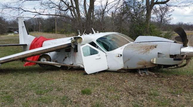 Single-Engine Plane Crashes Near Verdigris