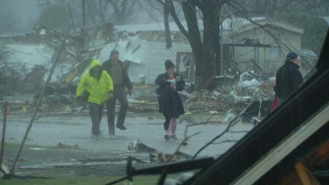 One Person Dead; 50 Mobile Homes Destroyed In Sand Springs Tornado