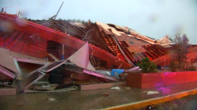 Tornado Destroys Sand Springs Gymnastics Studio