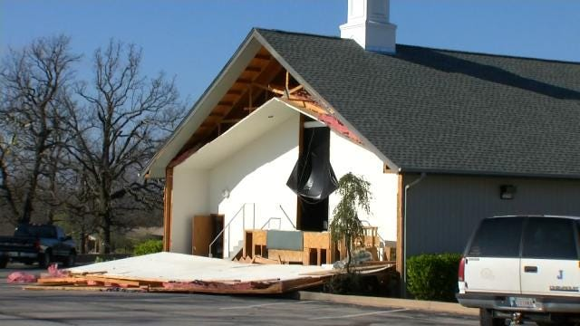 Sand Springs Students Use Day Off To Clean Up Damaged Church Building