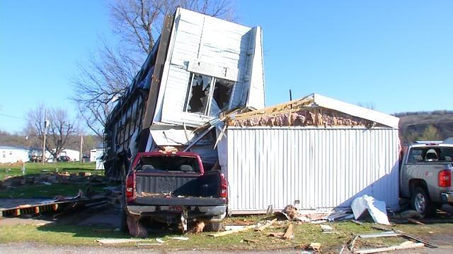 Tour of Sand Springs Mobile Home Park Shows Massive Tornado Damage
