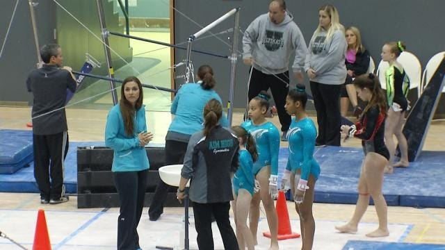 West Tulsa Gymnasts Rescued From Rubble Compete In State Competition