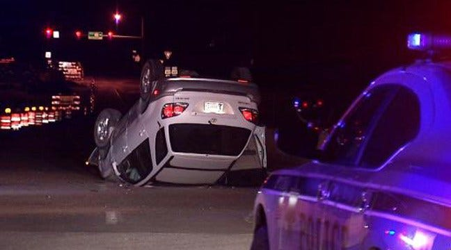 Injured Woman Crawls From SUV After Rollover Tulsa Crash