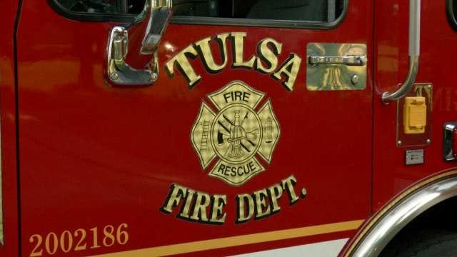 Tulsa Firefighters Rescue Woman On IDL Bridge Sign