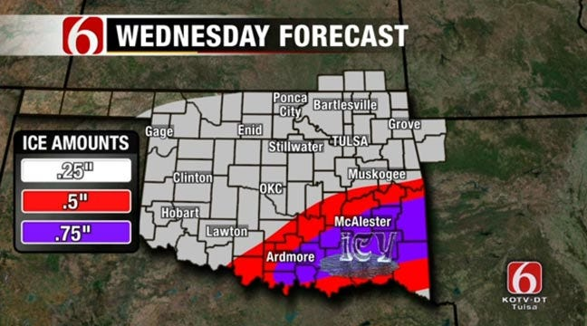 Sleet, Snow Event Expected Wednesday In Green Country