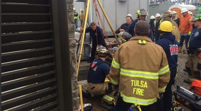 Tulsa Firefighters Rescue Man From Underground Utility Vault