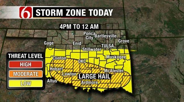 Southeastern Oklahoma Under Severe Thunderstorm Watch