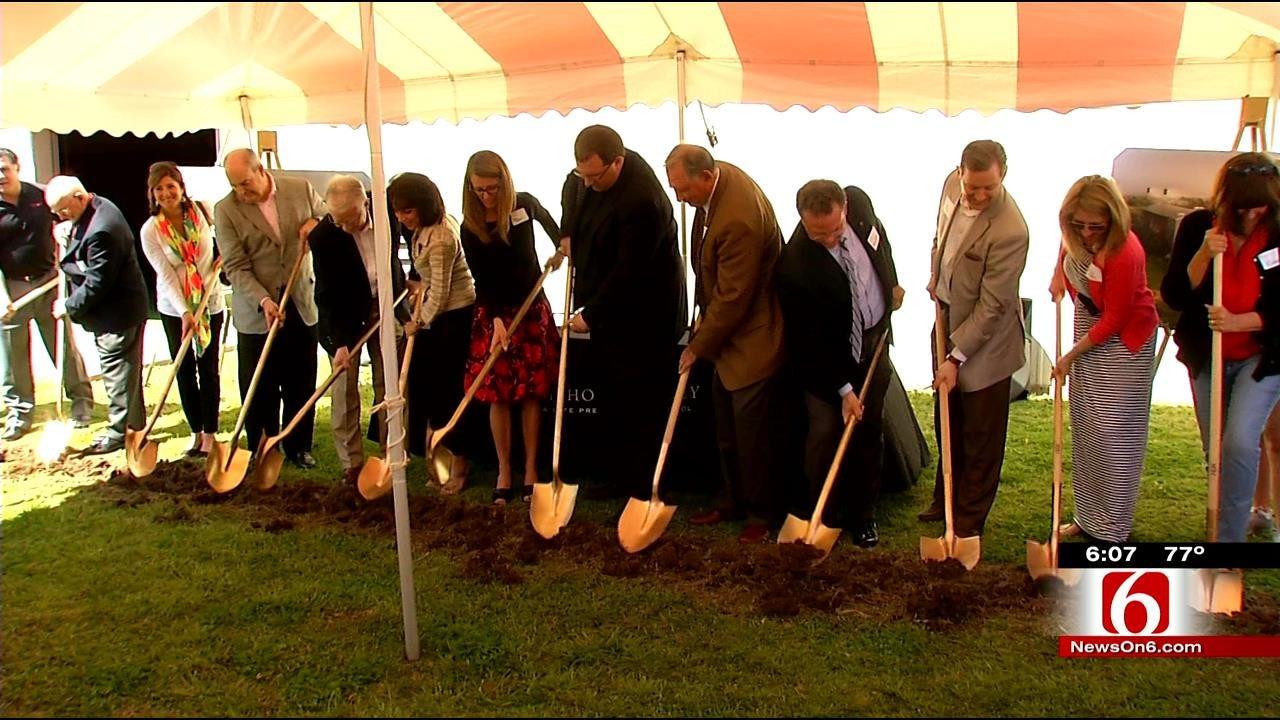 Tulsa's Bishop Kelley Breaks Ground On $3.5 Million Field House
