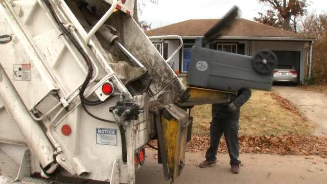 City Of Tulsa: Icy Streets Hampering Trash Collection