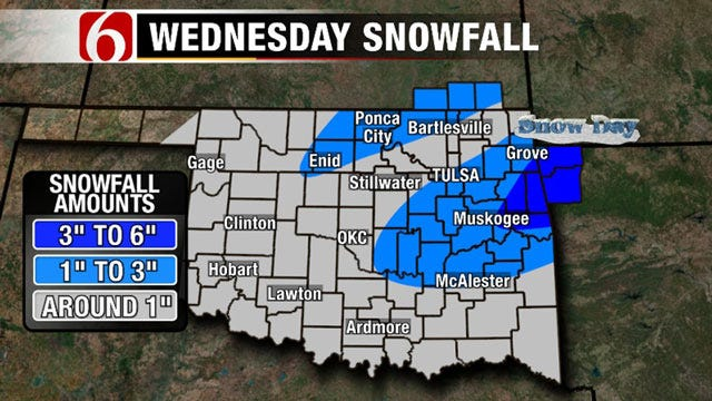 Winter Storm Dumps Sleet, Snow Across Eastern Oklahoma