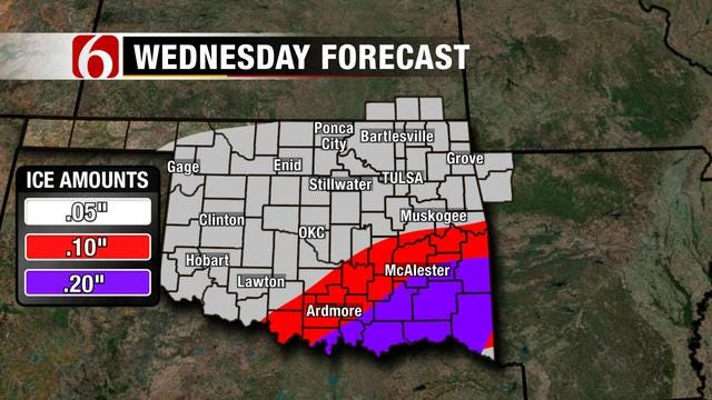Winter Weather Advisory In Effect For Eastern Oklahoma