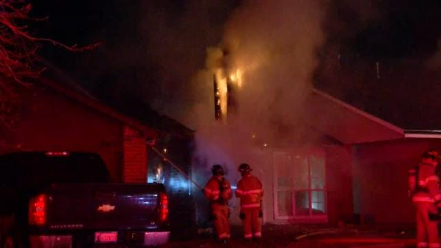 Chimney Fire Damages Tulsa Home
