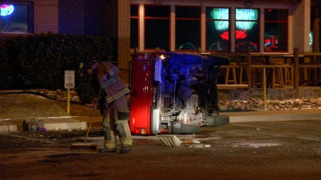 Tulsa Police: Man Rolls Pickup Doing Donuts Outside Twin Peaks Restaurant
