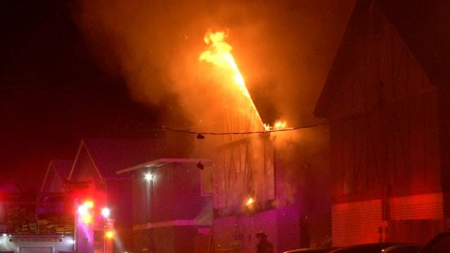 Tulsa Firefighters Rescue Adults, Child And Dog From Apartment Fire