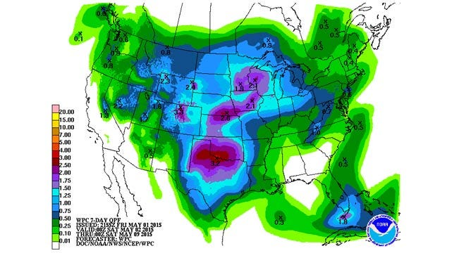 Dick Faurot's Weather Blog: Great Weekend, Unsettled Next Week