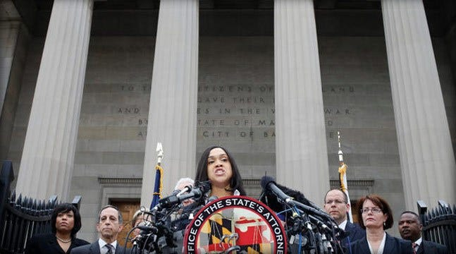 Prosecutor Charges 6 Baltimore Officers In Freddie Gray's Death