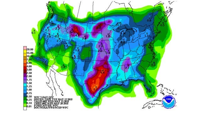 Dick Faurot's Weather Blog: Another Round of Rain, Some Heavy
